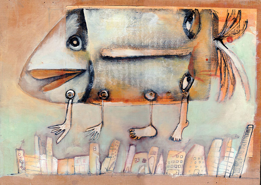 Pasajero a bordo 1, salon de ilustracion imagen palabra, medellin colombia, Mariana Alcantara